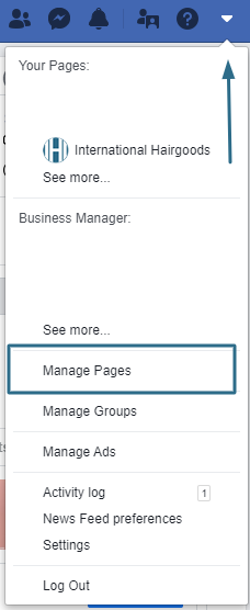 facebook manage pages