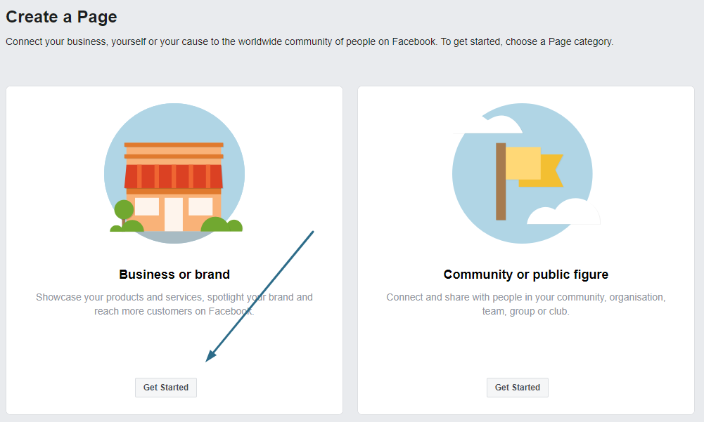 create a business facebook page