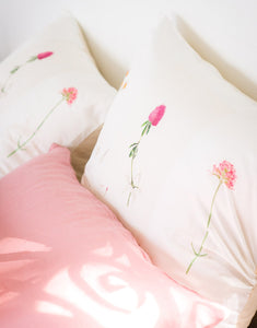 Linen Pillowcase Set - Rose