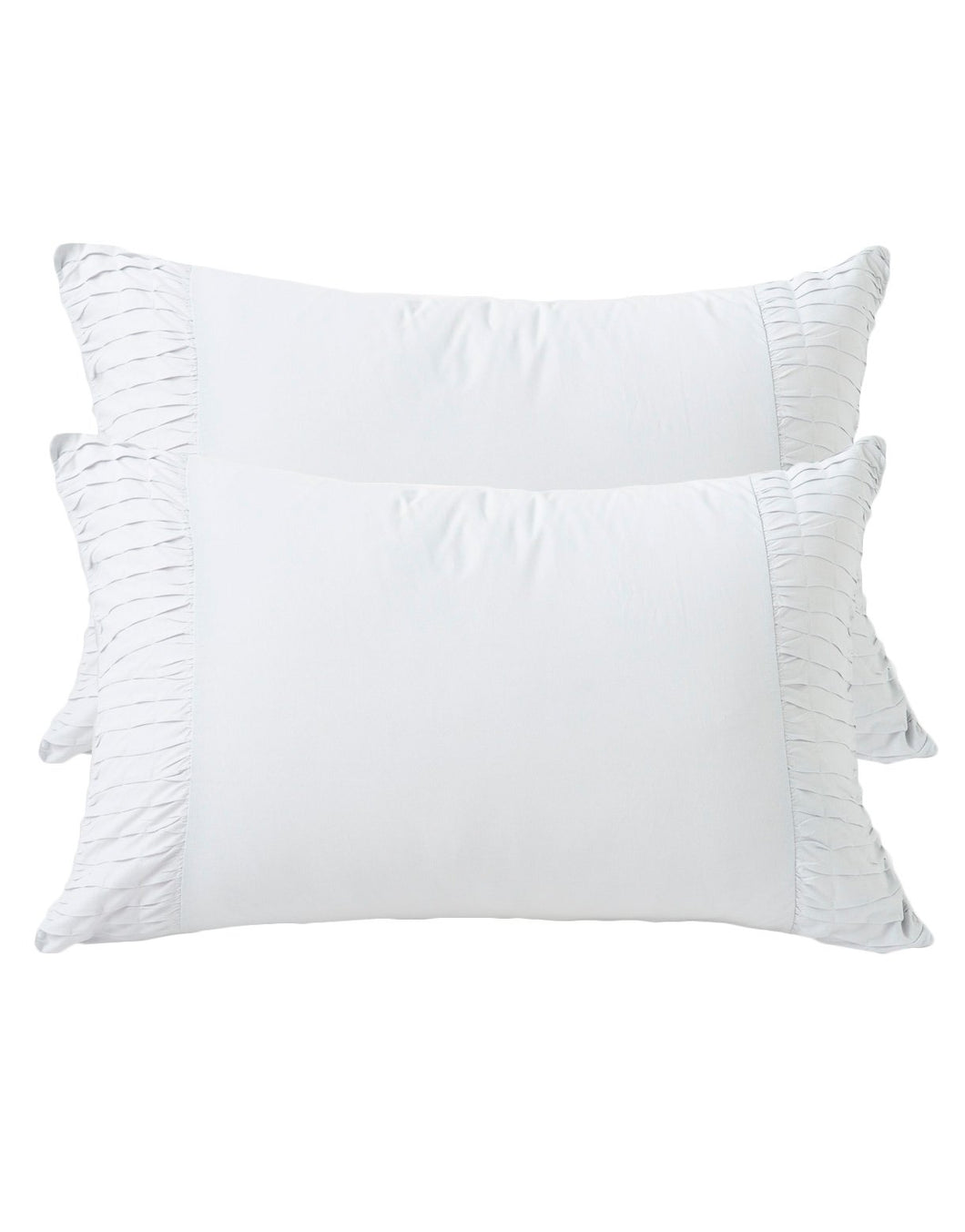 Rosette Pillowcase Set - Dove