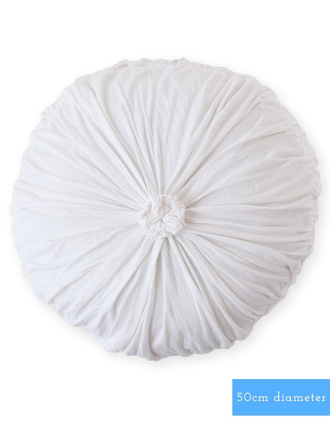 Rosette Round Cushion - White
