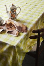 Load image into Gallery viewer, Limoncello Gingham Linen Tablecloth