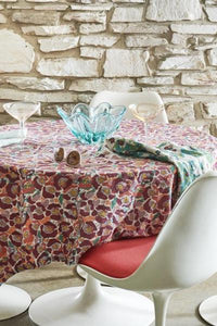 Betty Floral Linen Tablecloth