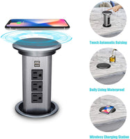 BTU Pop Up Outlet Desk Recessed Power Socket Automatic Raising Retractable Surge