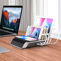 Charging Stations for Multiple Devices, 5-in-1 Desk Docking Sta