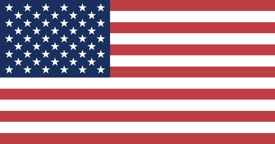 American flag image indicating products made in America.