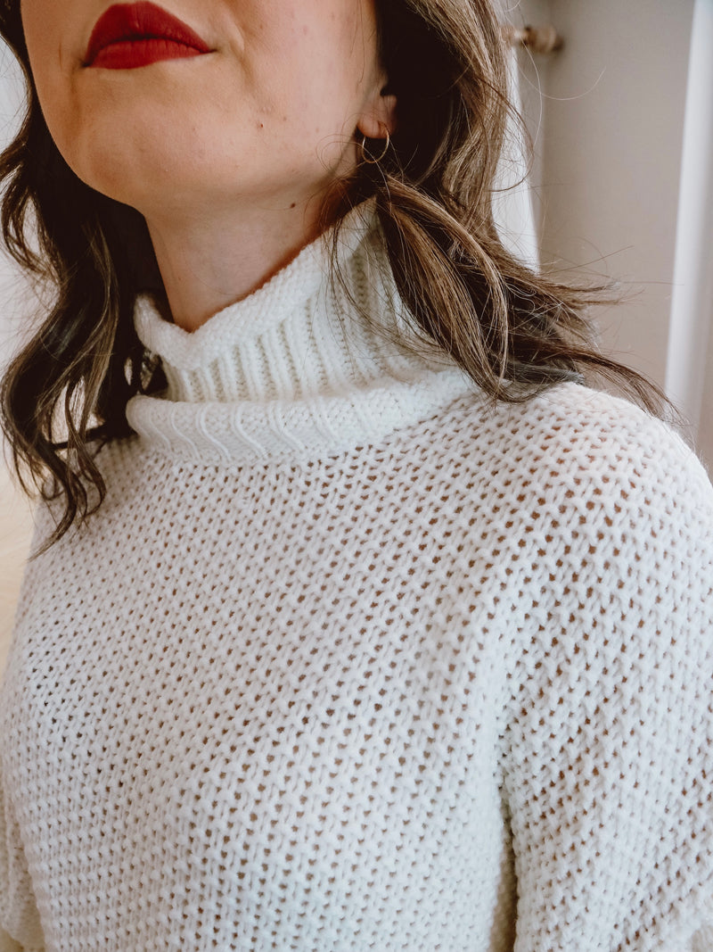 Knitted White Sweater