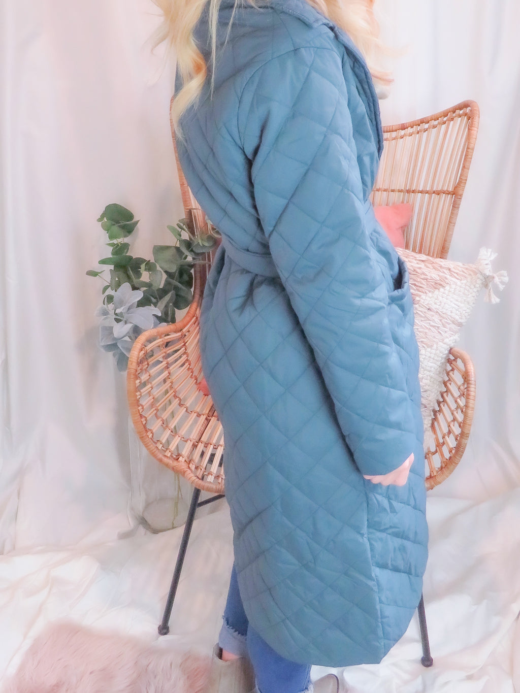Emerald Diamond Quilted Coat
