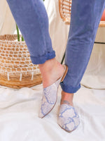 Blush Snake Leather Mule