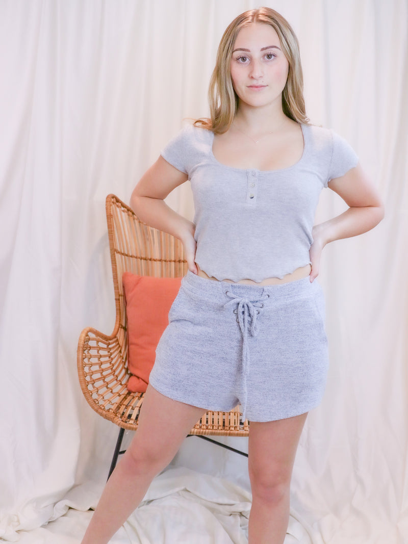 Ultimate Cropped Grey Cutoff