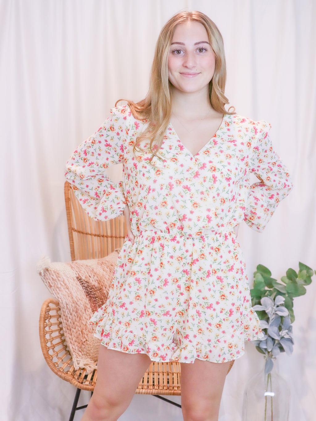 Pretty In Pink Floral Romper