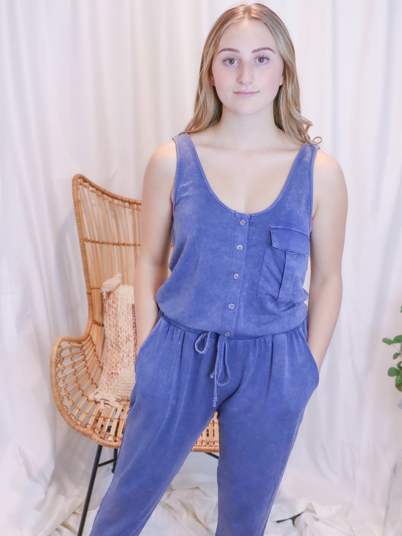 Acid Blue Romper