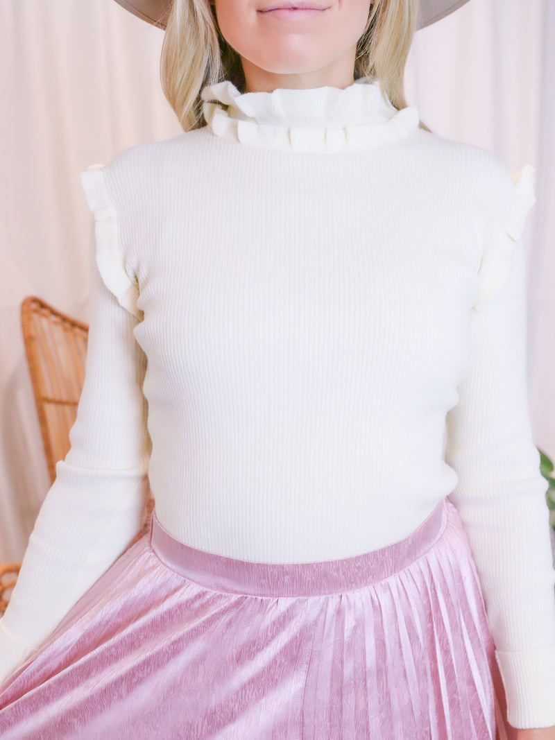 Peated In Pink Midi Skirt