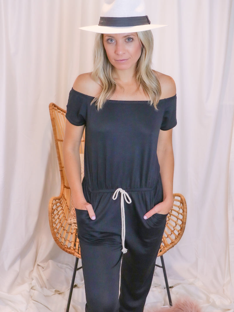 Black Rope Romper