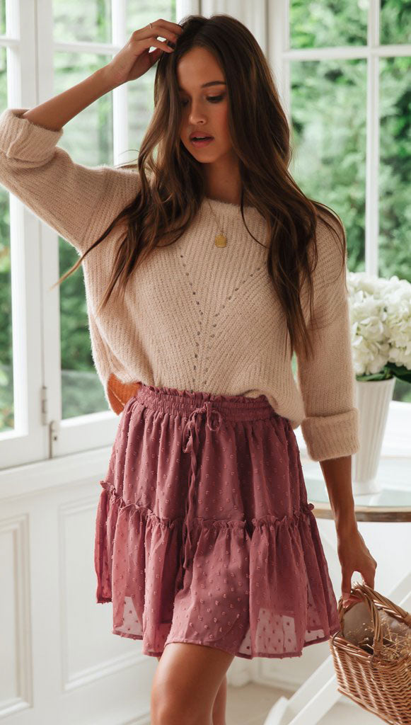 Berry Pink Mesh Skirt