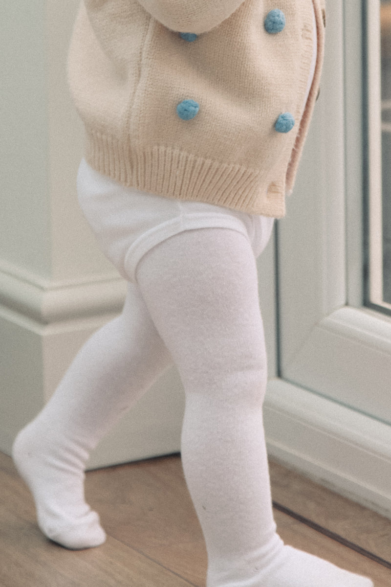 Plain White Baby Tights