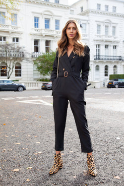 1e73ec7a8d77 Blazer Style Long Sleeve Jumpsuit in Black – Styled In London