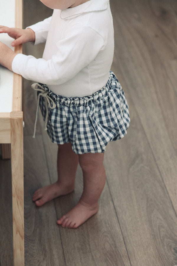 Cotton Navy Gingham Bloomers (and bonnet)Cotton Navy Gingham Bloomers (and bonnet)