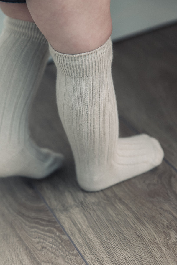 Soft Beige Baby Socks