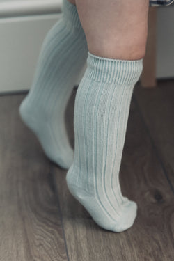 Soft Dusky Blue Baby Socks