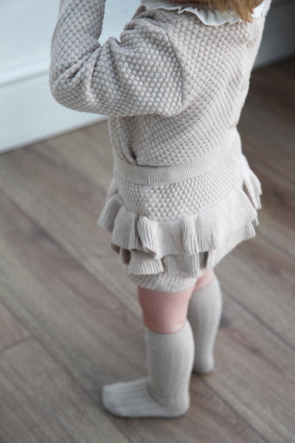 Frill Knitted Top & Bloomers Set