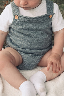 Grey Bobble Knitted Romper