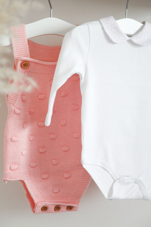 Pink Speckle Collared Bodysuit