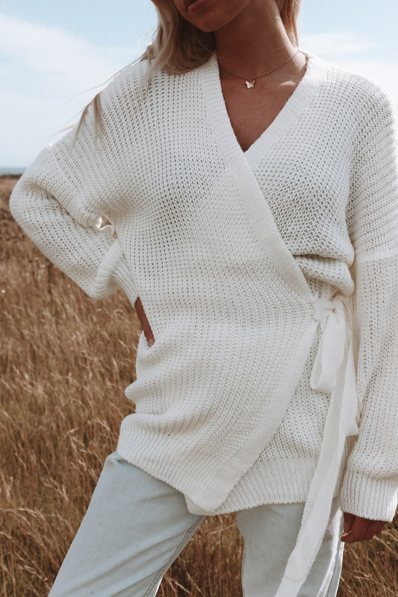 Cream Wrap Cardigan