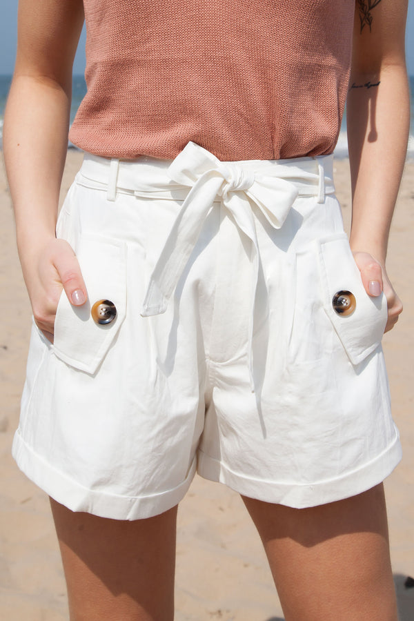 Dora High Waisted Cotton Shorts