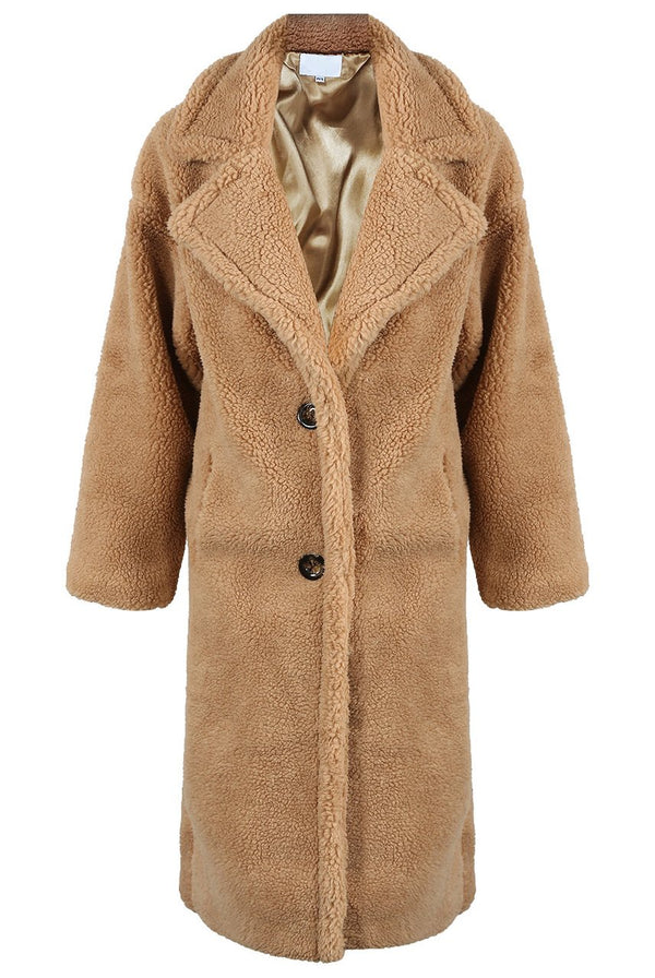 Brown Faux Fur Teddy Coat