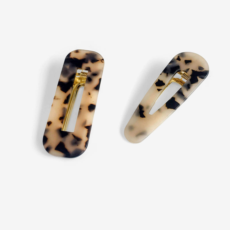 Leopard Marble Effect Hair Barrette