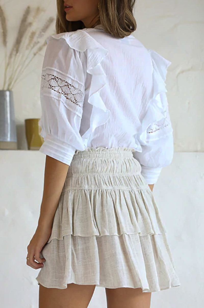 Annabel White Lace Blouse