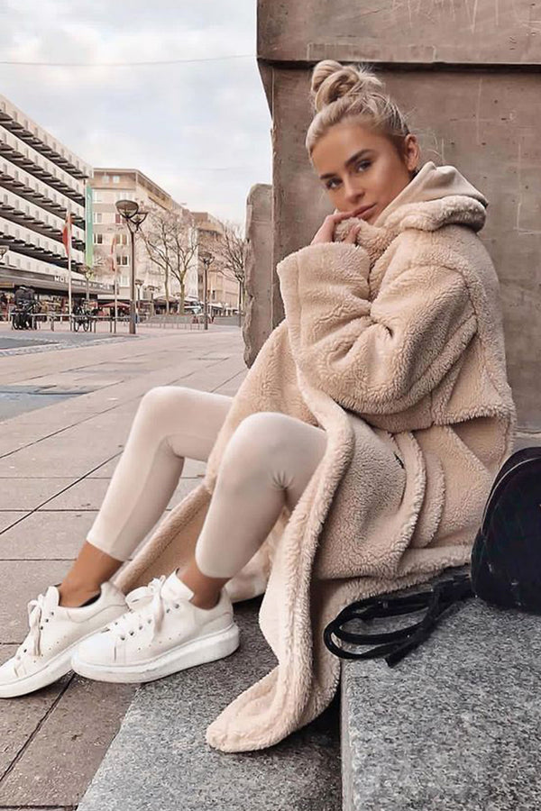 Beige Faux Fur Teddy Coat