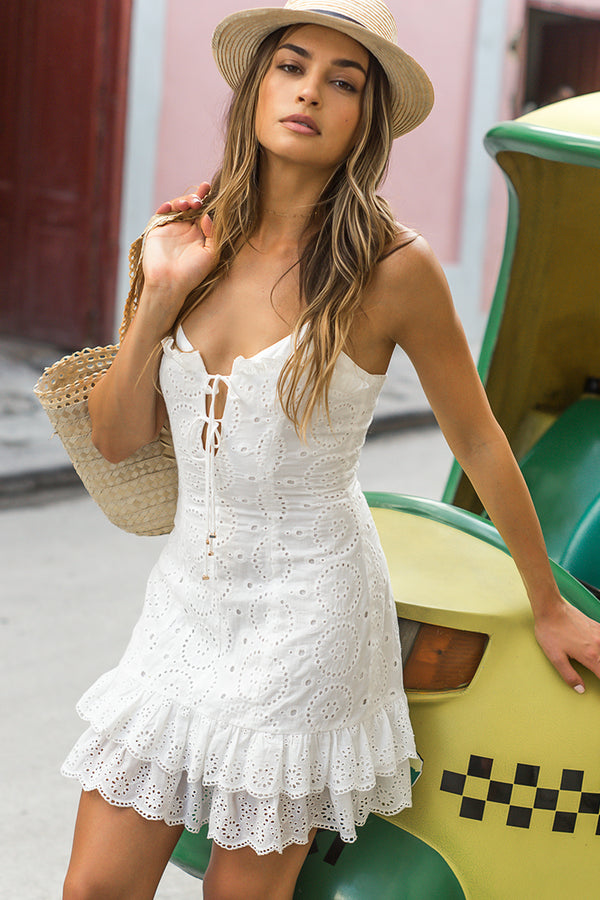 White Broderie Anglaise Imogen Dress