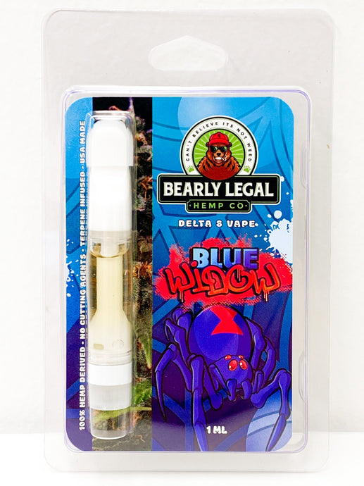 Delta-8 D8 Ceramic Vape 1ml - Blue Widow - Bearly Legal Hemp