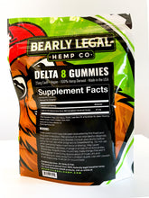 Load image into Gallery viewer, Delta 8 THC 25mg Gummies (200mg D8) - 8 pack - Strawberry - Bearly Legal Hemp