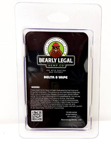 Delta-8 THC D8 Vape Tank- 1ml - Watermelon Zkittles - Bearly Legal Hemp