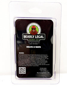 Grandaddy Purp | Delta 8 D8 Vape Tank - Bearly Legal Hemp