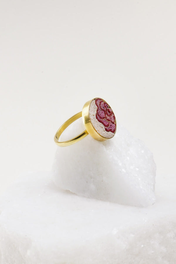 Rose Mosaic Ring