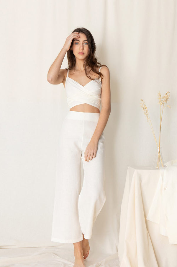 Aro Trousers - White
