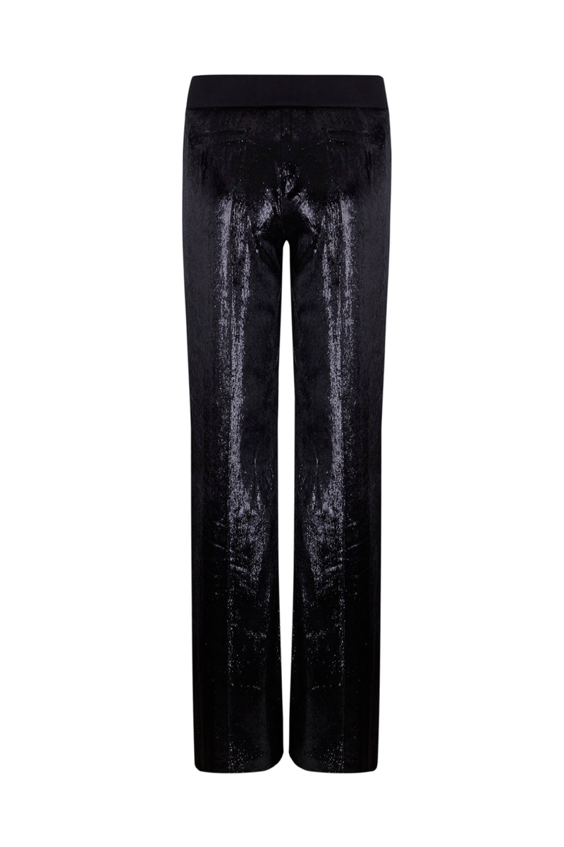 Trousers França - black lame