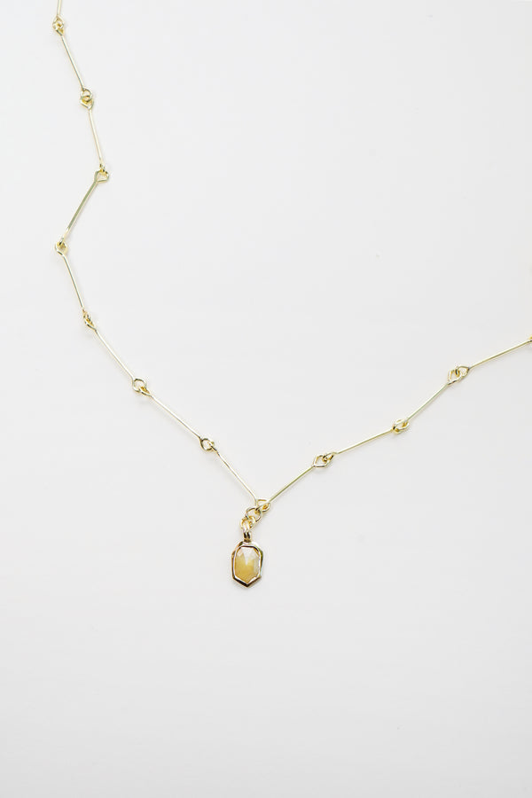Yellow Diamond with Gold 'Ago' chain