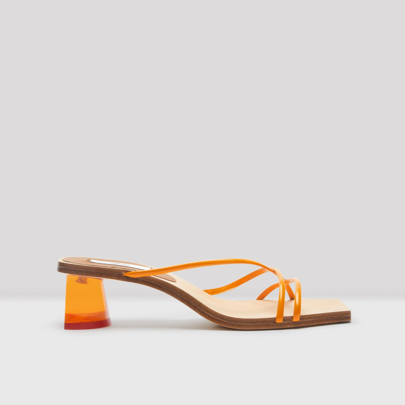 Nikki Apricot Leather Sandals