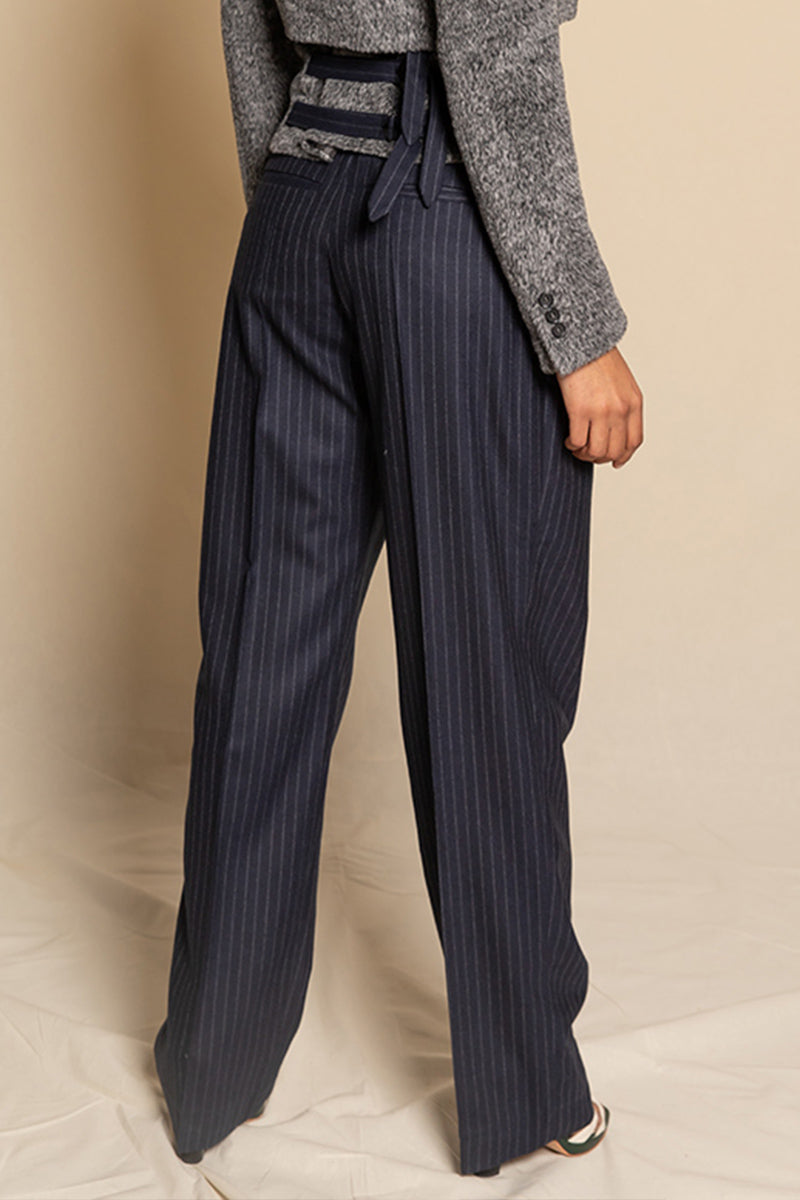 Trousers Ceresa - pinstripes