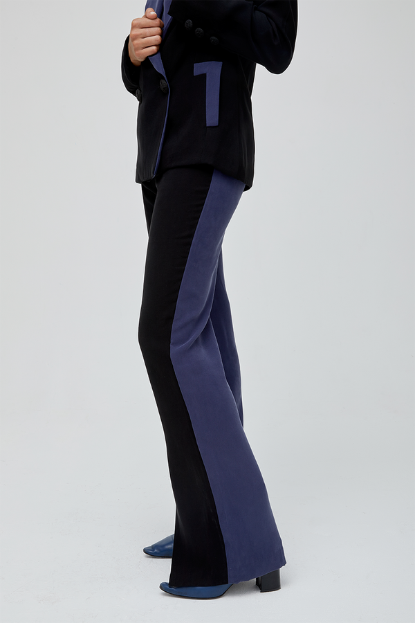 NEGRONI TROUSERS - BLACK & BLUE