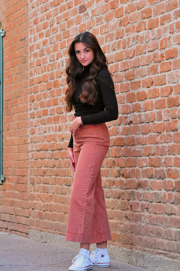 THRIFTED Peach Wide Leg Pants