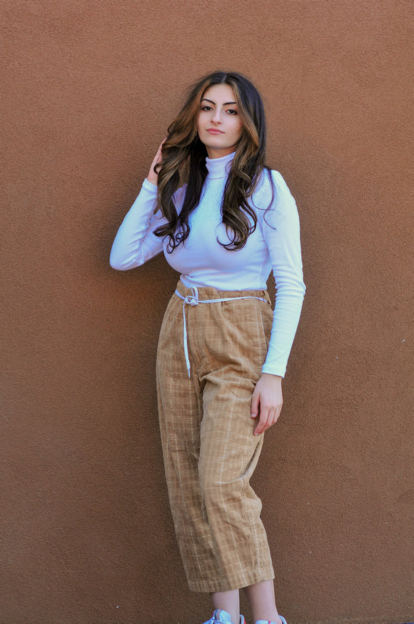 THRIFTED Urban Outfitter Beige Corduroy Pants