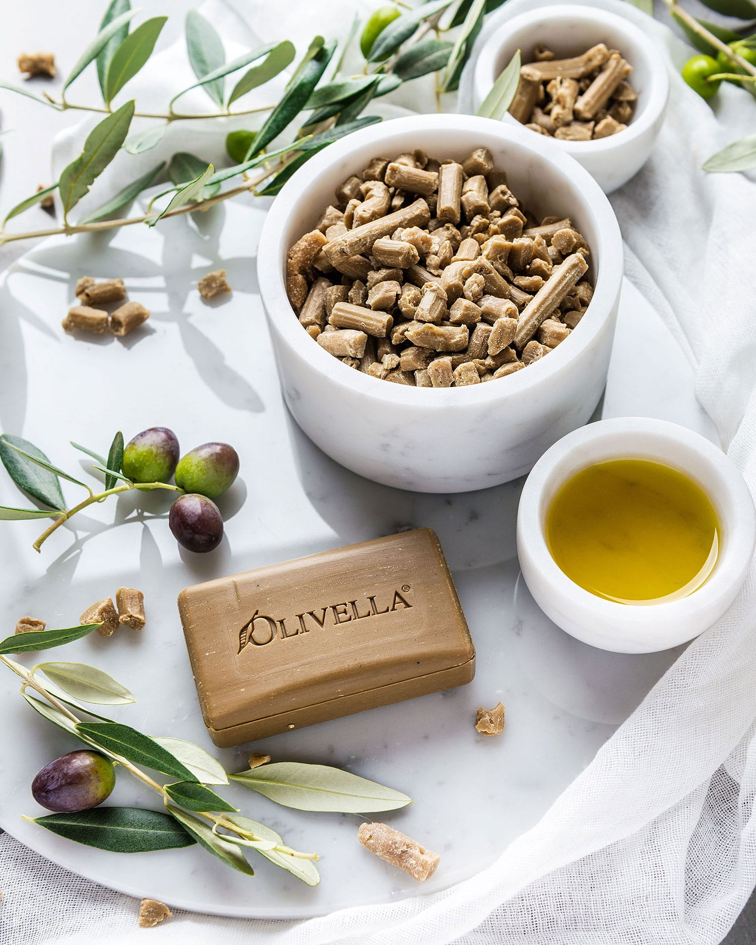 Olive oil soaps from Olivella