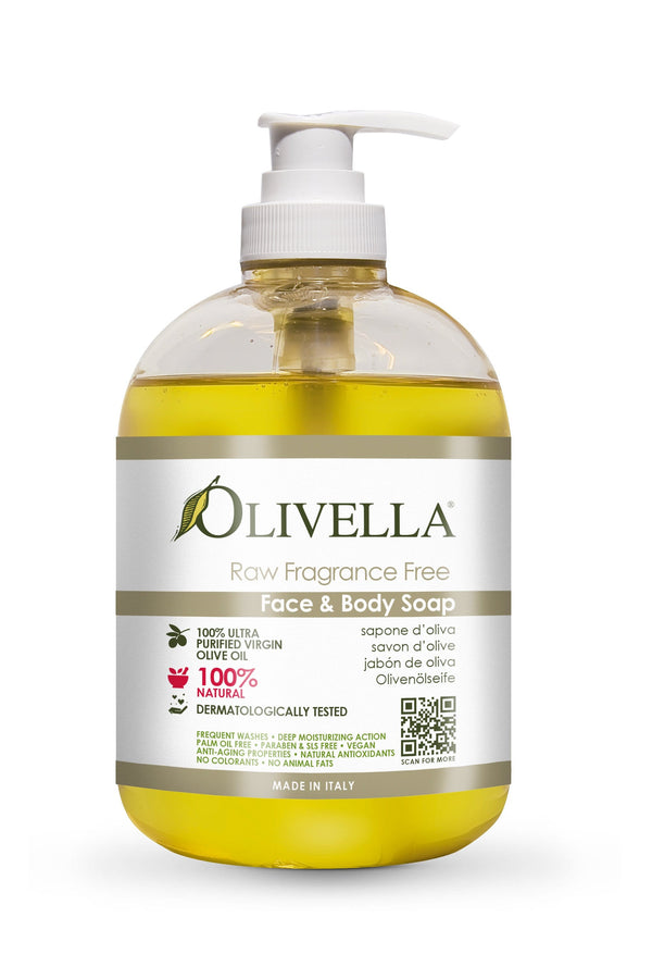 Olivella Liquid Soap Raw Fragrance Free - Olivella Europe
