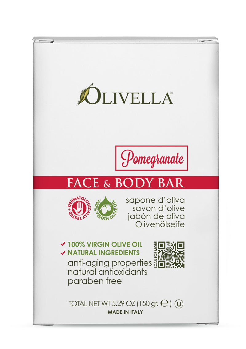 Olivella Bar Soap Pomegranate - Olivella Europe